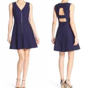 Adelyn Rae Back Cutout Fit & Flare Dress